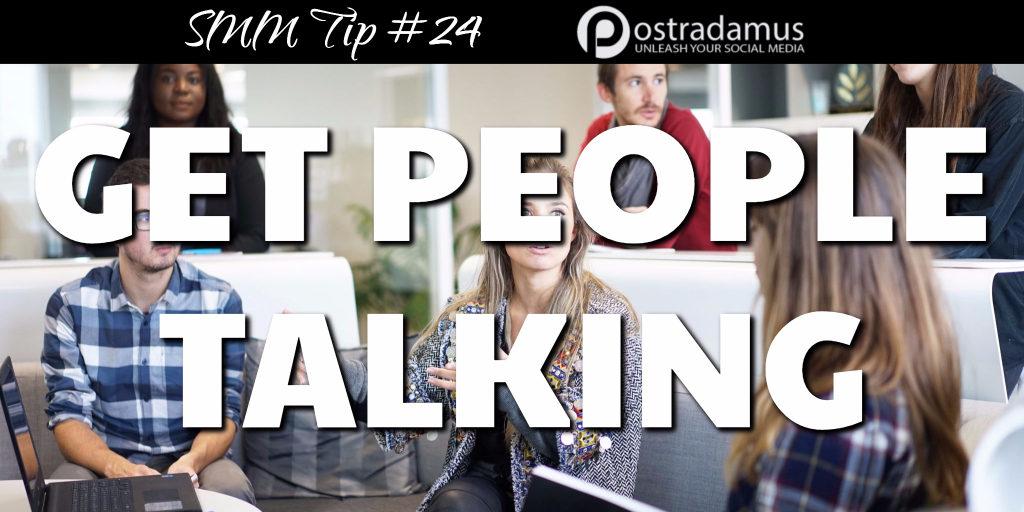 Postradamus Social Media Tip 24: Engage people