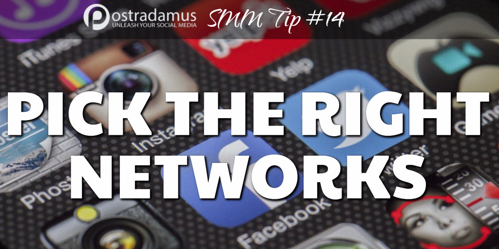 Postradamus Social Media Tip 14: Focus on a select few social media sites