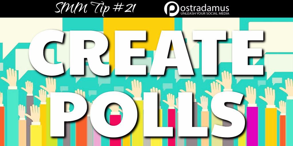 Postradamus Social Media Tip 21: Create polls