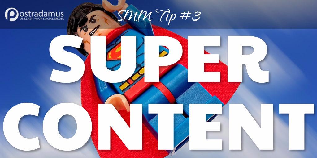 Postradamus Social Media Tip 3: Post great content